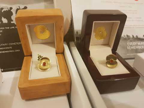 Passchendaele and Somme Brass Poppy Badges