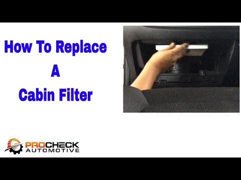 How to replace a cabin filter in a Kia Sportage