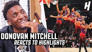 Donovan Mitchell Reacts to Donovan Mitchell Highlights | The Reel