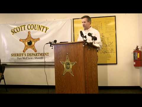 Scott County Sheriff's Department Press Conference 01/05/2012
