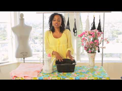 How to Hand-Wash Bras : Clothing Care