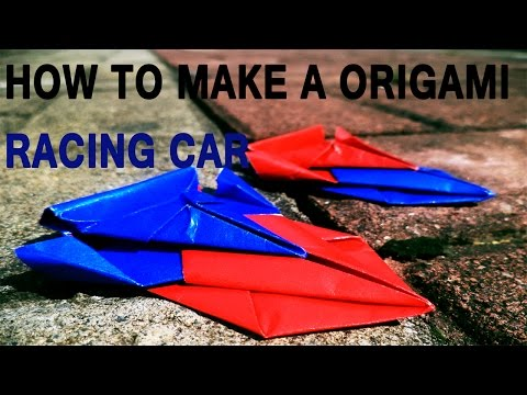 How to make an origami racing car