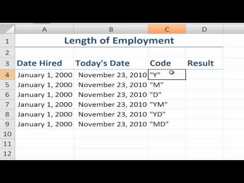 How to Use the Undocumented DATEDIF Function in Excel