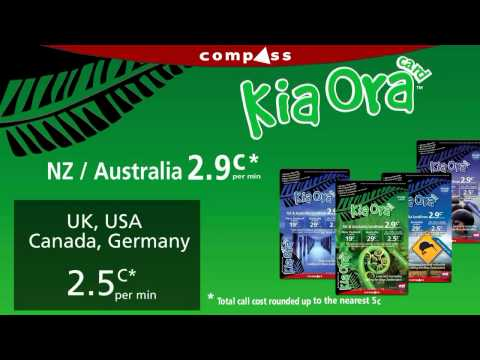 KiaOra phone card - great calling rates on an easy to use phone card