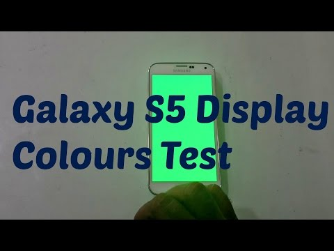 Samsung Galaxy S5 Display Colours Test