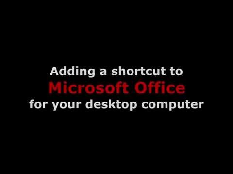 Adding a shortcut to Microsoft Outlook for your desktop computer