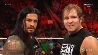 WWE Raw  Roman Reigns w Dean Ambrose vs Luke Harper w Bray Wyatt