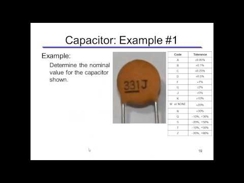 Determining the Value of a Capacitor