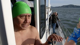 Watch This Championship Swimmer Try To Swim To Safety From Alcatraz. Will He Make It?