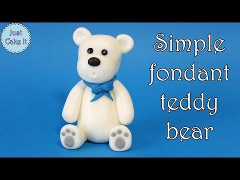 How to make simple fondant teddy bear / Jak zrobić prostą figurkę misia
