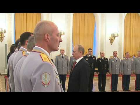 PUTIN MEETS Newly promoted HIGH-RANKING top Russian MILITARY OFFICERS in the Kremlin