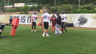 Pittsburgh Steelers TEs workout for Mike Tomlin at rookie minicamp
