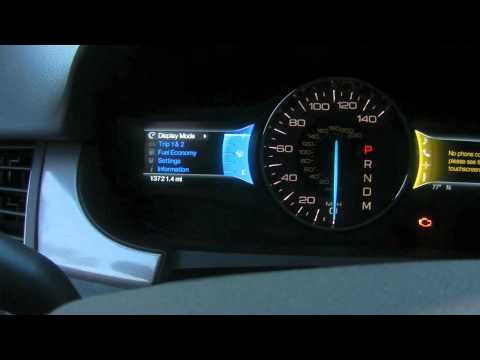 Ford Edge 2011 MyTouch Oil Life Reset
