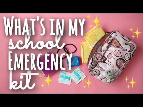 What's in my School Emergency Kit! | SimplyMaci