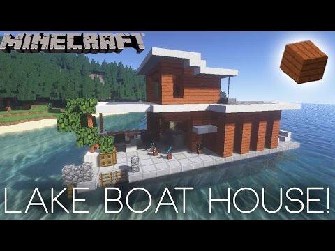 Minecraft - Lake House Boat Tutorial!