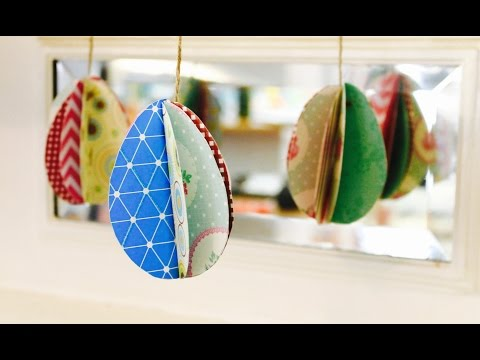 Easy Easter craft: How to make 3D paper eggs