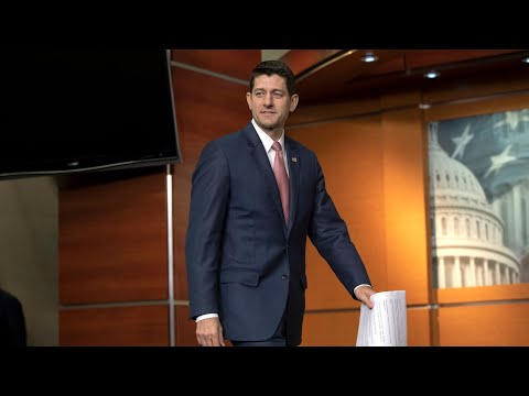 Ryan holds a news conference
