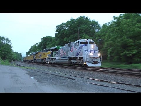 Union Pacific HD 60fps: Office Car Special (NS 066) @ Prospect Avenue w/ SD70ACe 1943 (5/31/18)