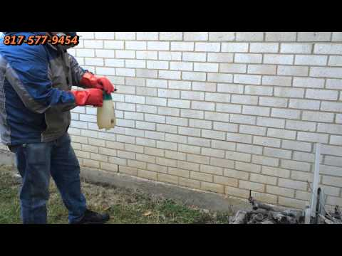Cleaning Red Clay Stains from Bricks Dallas Fort Worth TX DFW