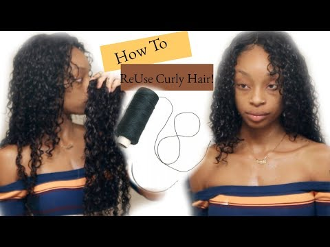 How To Reuse Curly Weave ! (BeautyForeverHair)