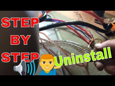 How to rip out a stereo system and put a car car back to stock