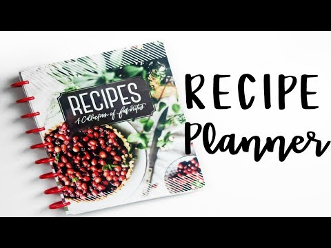 Plan With Me: Setting Up My Recipe Planner & 2 Easy Family Recipes Collab With TheCLASSYSASSYPLANNER