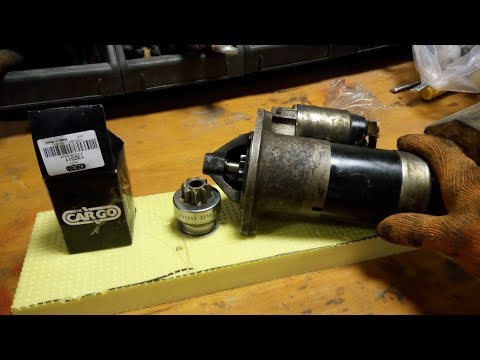 Замена бендикса стартера (Replace Starter Bendix Gear/ Starter Driver Gear Clutch)