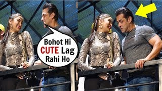Salman Khan OPENLY Flirting With Saiee Manjrekar In FRONT Of Media At Preview Of Being Strong