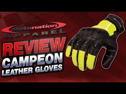 Motonation Apparel Campeon Short Leather Gloves Review | Sportbike Track Gear