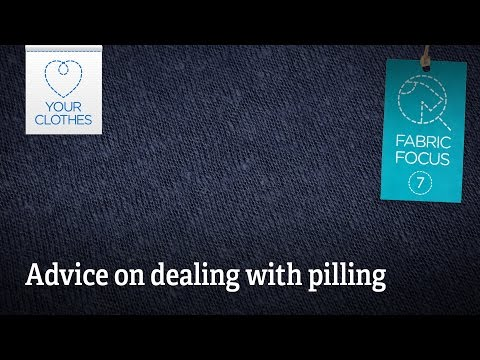 Fabric focus: how to remove pilling on clothes