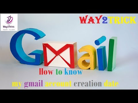 How to know my gmail account creation date