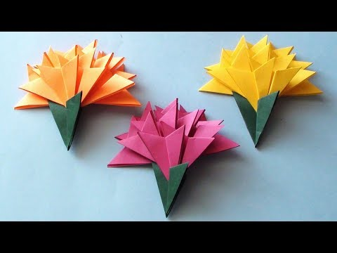 How to make a paper flowers tutorial