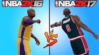 NBA 2K17 vs NBA 2K16 GAMEPLAY