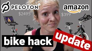 **4 MONTH UPDATE** DIY Peloton Bike Hack | I SAVED $2500 | Watch before buying a Peloton!