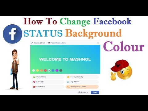 How To Add/Change Facebook Status BACKGROUND COLOR
