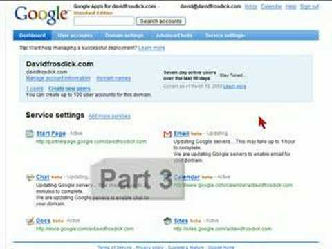How-to Google Apps for your Domain Part 4