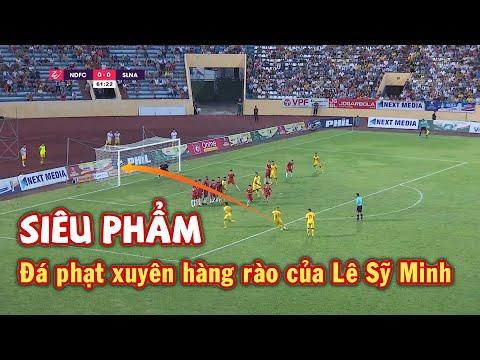 Siêu phẩm đá phạt xuyên hàng rào của Lê Sỹ Minh vào lưới Sông Lam Nghệ An