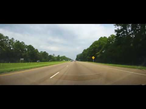 Driving on I10 and I12 from Mississippi to Baton Rouge, LA