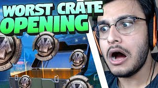 FUNNIEST CRATE OPENING, 0 UC SASTE CRATES! | PUBG MOBILE HIGHLIGHTS | RAWKNEE