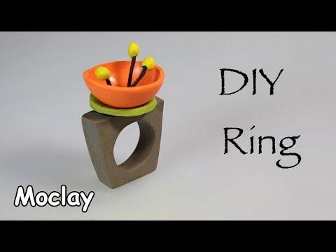 DIY Polymer Clay Ring - Easy tutorial