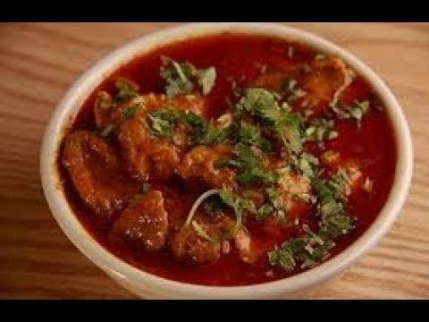 Spicy Onion Tomato Chicken Red Gravy Curry Recipe