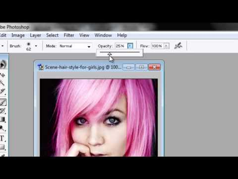 EASIEST WAY to change hair color with Photoshop 7