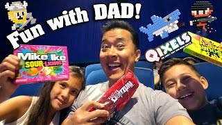QIXELS CRAFTING!! WEEKEND with DAD!