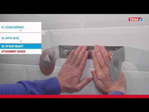 tesa® How To Use Mounting Glue for Tiles & Metal 14kg/cm2 (DIN EN 205)