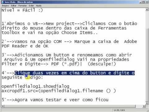 Visual Basic 2008-Criando Leitor de PDF.FLV