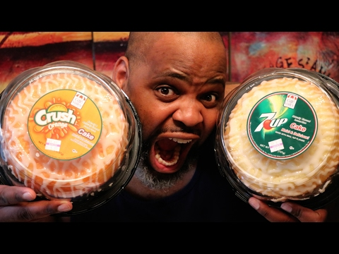 7up Soda Cake VS Crush Orange Soda Cake