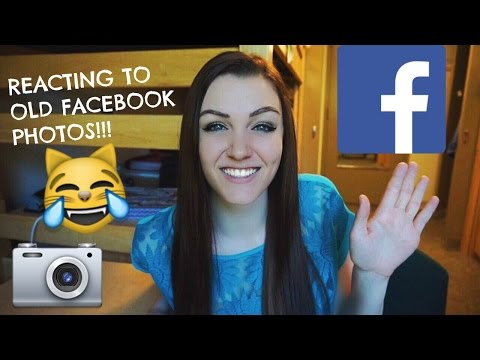 REACTING TO OLD CRINGEY FACEBOOK PHOTOS | ALLY HARDESTY