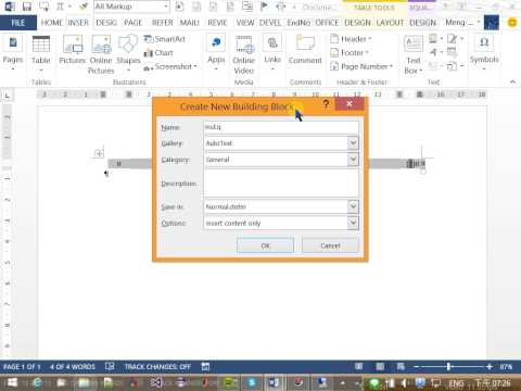 Insert Equation Number at Right of Eq. in Microsoft Word and Cross Ref. It