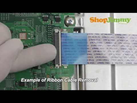 LG LCD TV Repair - How to Replace 6871L-2045A T-Con Board - How to Fix LCD TVs