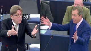 BREXIT: Nigel Farage LAUGHS in Verhofstadt
